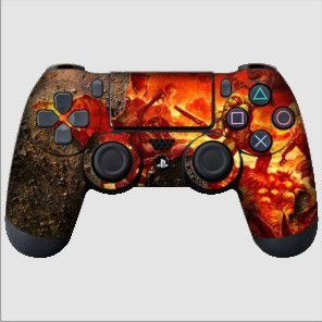 Adesivo de Controle PS4 Doom Mod 01