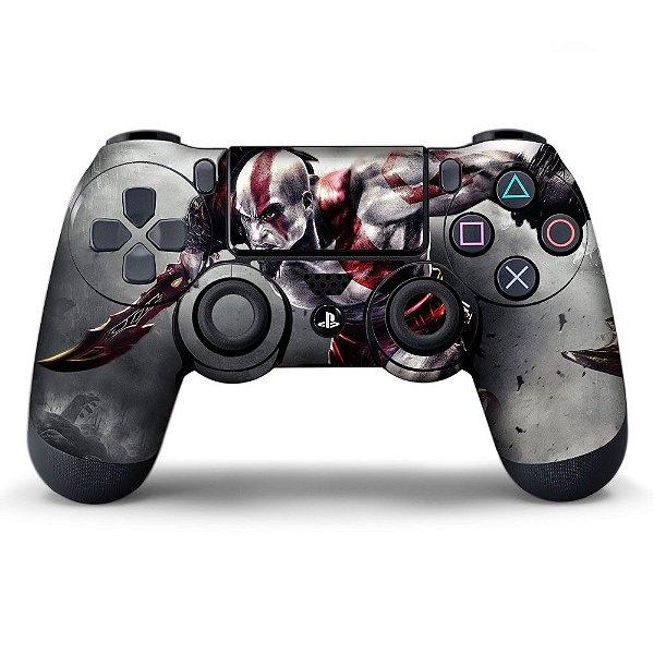Adesivo de Controle PS4 Kratos Mod 01