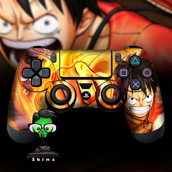 Adesivo de Controle PS4 One Piece Mod 02