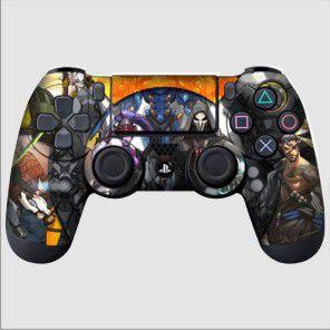 Adesivo de Controle PS4 Overwhatch Mod 02