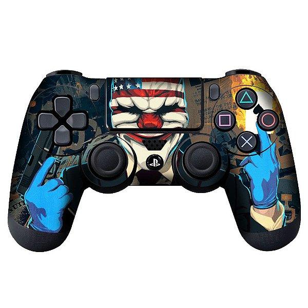 Adesivo de Controle PS4 Payday Mod 01