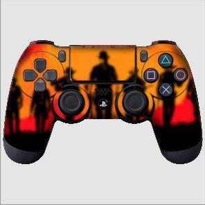 Adesivo de Controle PS4 Red Dead Redemption Mod 01