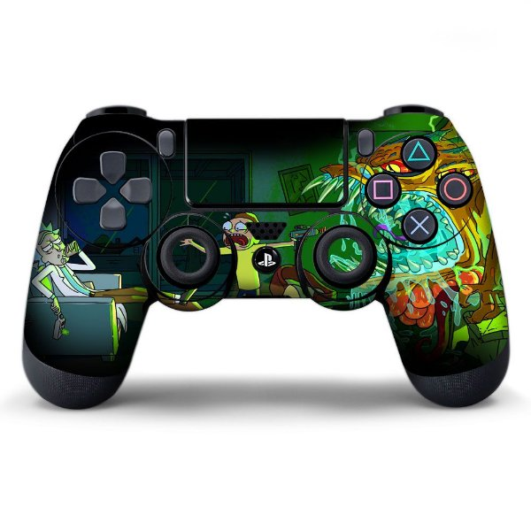 Adesivo de Controle PS4 Rick and Morty Mod 02