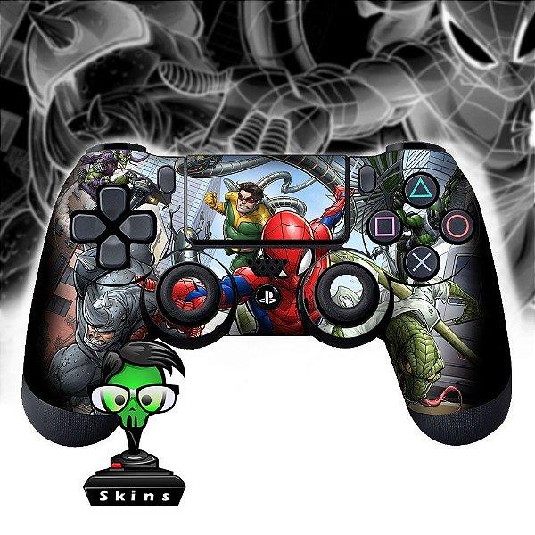 Adesivo de Controle PS4 Spiderman Comic Mod 01