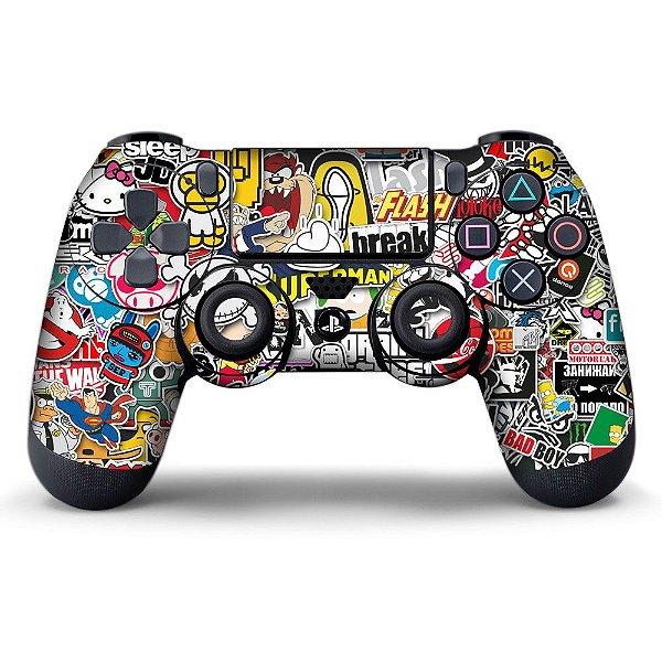 Adesivo de Controle PS4 Sticker Bombs Mod 01