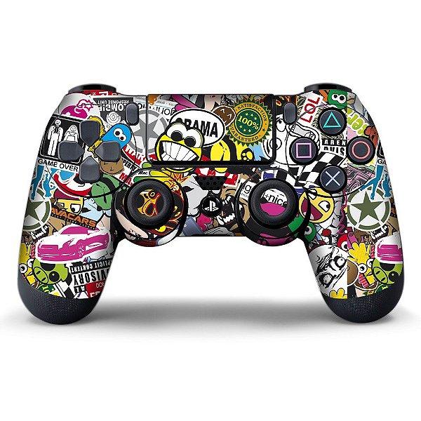 Adesivo de Controle PS4 Sticker Bombs Mod 04