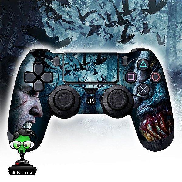 Adesivo de Controle PS4 The Witcher Mod 05
