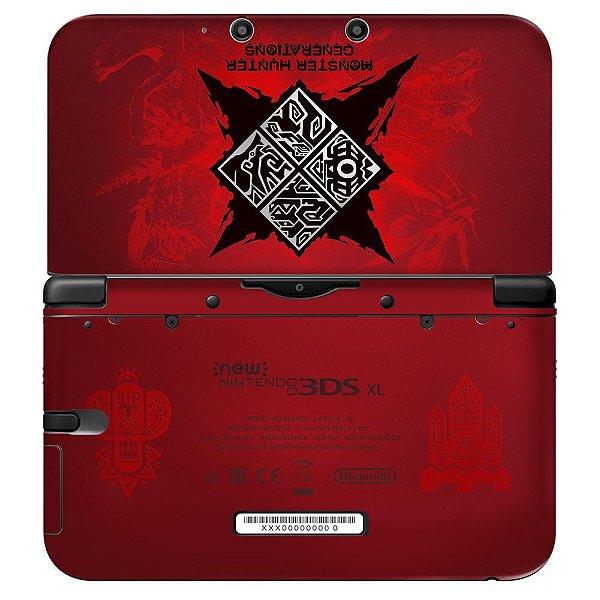 Adesivo Skin de Proteção 3ds XL Monster Hunter Generations