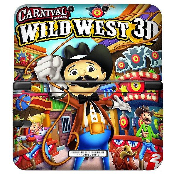 Adesivo Skin de Proteção 3ds XL Wild West 3D