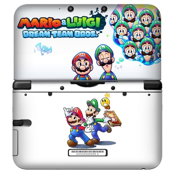 Adesivo Skin de Proteção 3ds XL Mario e Luigi Mod 01