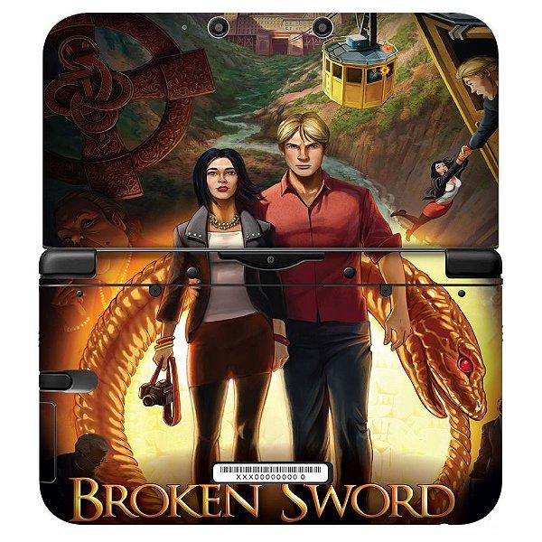Adesivo Skin de Proteção 3ds XL Broken Sword