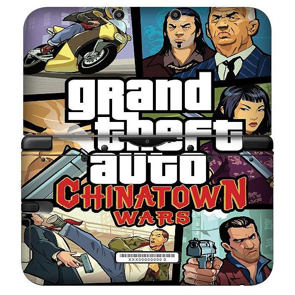 Adesivo Skin de Proteção 3ds XL Grand Theft Auto