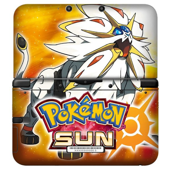 Adesivo Skin de Proteção 3ds XL Pokemon Sun