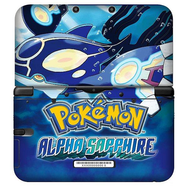 Adesivo Skin de Proteção 3ds XL Pokemon Alpha Sapphire