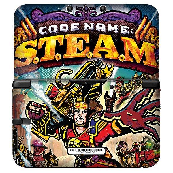 Adesivo Skin de Proteção 3ds XL Code Name Steam