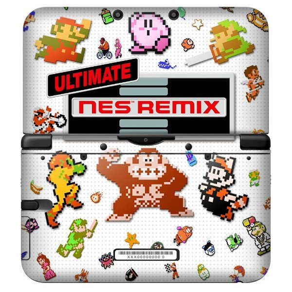 Adesivo Skin de Proteção 3ds XL NES Remix Ultimate