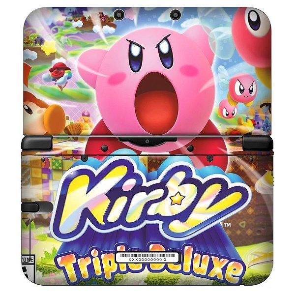 Adesivo Skin de Proteção 3ds XL Kirby Triplle Deluxe