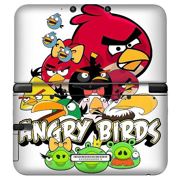 Adesivo Skin de Proteção 3ds XL Angry Birds Mod 01