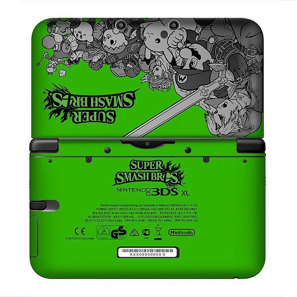 Adesivo Skin de Proteção 3ds XL Super Smash Bros Green