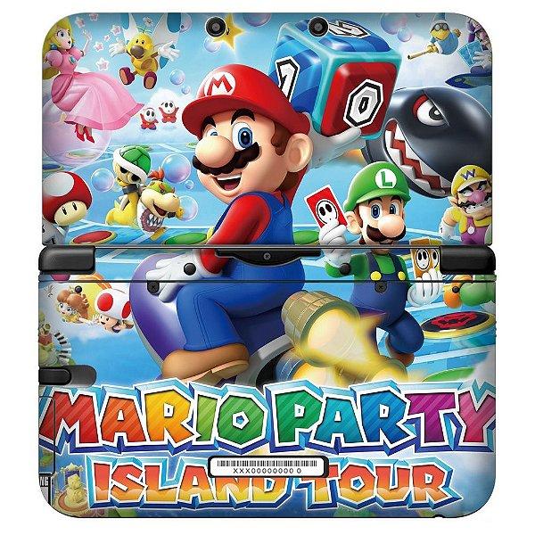 Adesivo Skin de Proteção 3ds XL Mario Party Island Tour