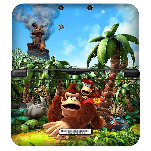 Adesivo Skin de Proteção 3ds XL Donkey Kong Mod 01