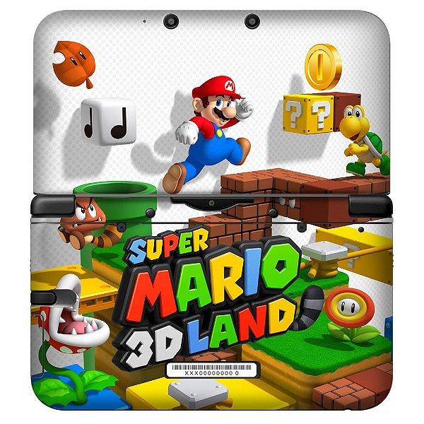 Adesivo Skin de Proteção 3ds XL Super Mario 3D Land