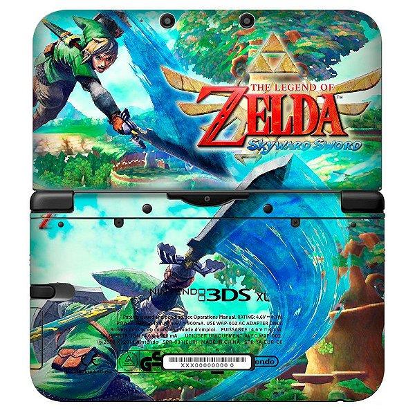 Adesivo Skin de Proteção 3ds XL The Legend of Zelda Mod 03