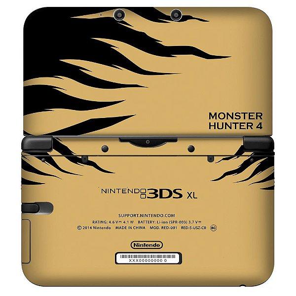 Adesivo Skin de Proteção 3ds XL Monster Hunter 4