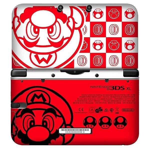 Adesivo Skin de Proteção 3ds XL Mario Mod 03