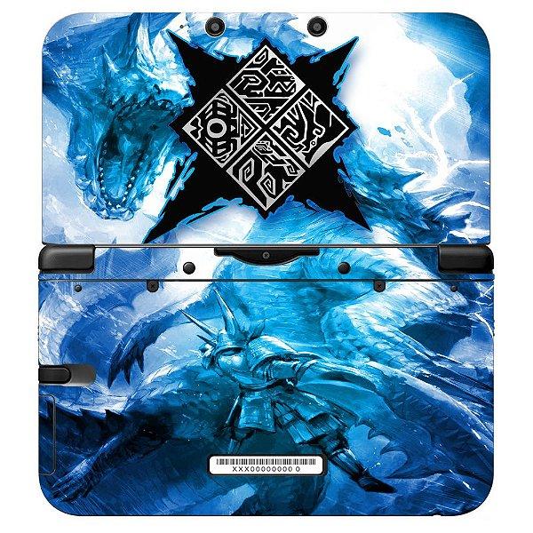 Adesivo Skin de Proteção 3ds XL Monster Hunter Blue