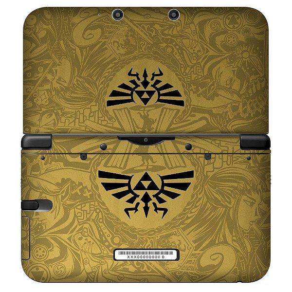 Adesivo Skin de Proteção 3ds XL The Legend of Zelda Triforce
