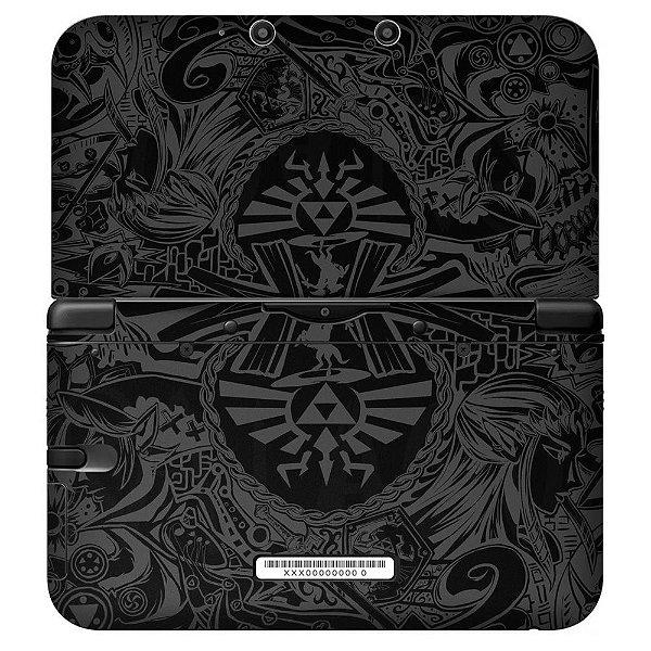 Adesivo Skin de Proteção 3ds XL The Legend of Zelda Triforce Black