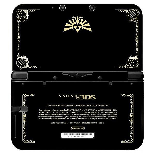 Adesivo Skin de Proteção 3ds XL The Legend of Zelda Mod 05