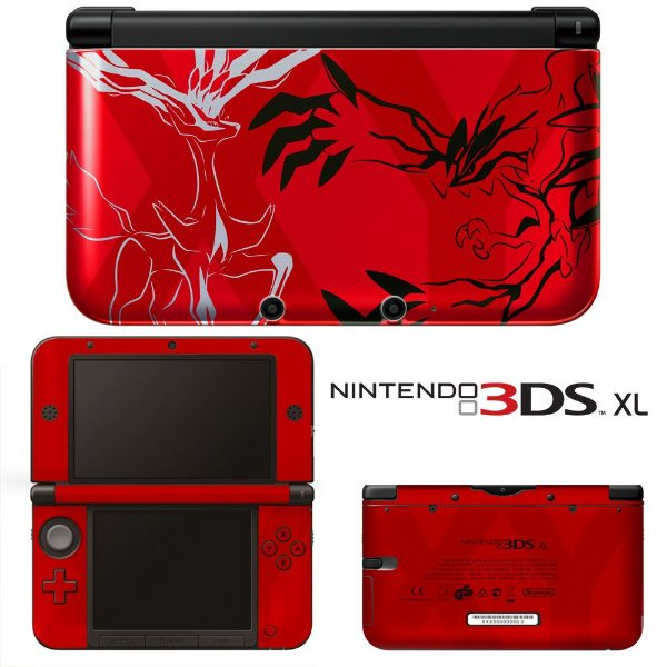 Adesivo Skin de Proteção 3ds XL Pokemon XY Red