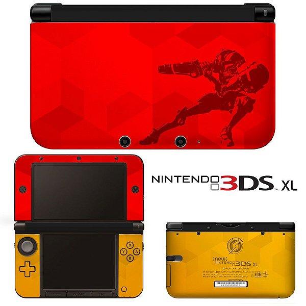 Adesivo Skin de Proteção 3ds XL Metroid Prime Red
