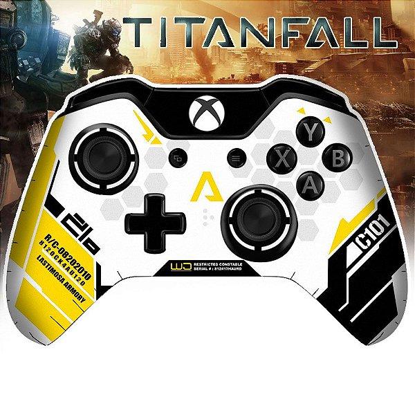 Adesivo de Controle Xbox One Titanfall Yellow