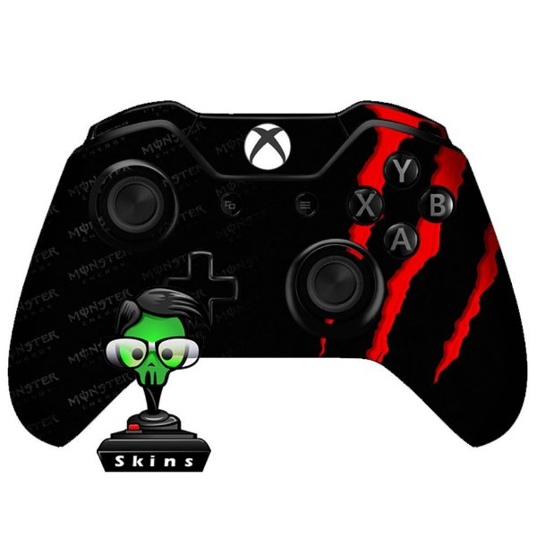 Adesivo de Controle Xbox One Monster Red