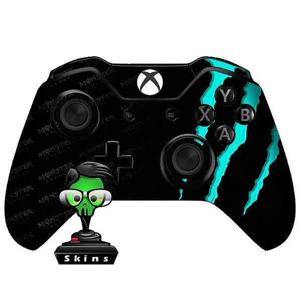 Adesivo de Controle Xbox One Monster Ciano