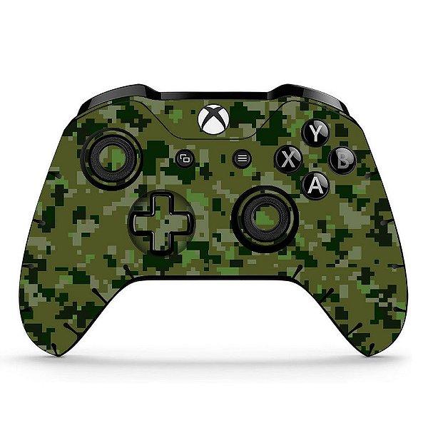 Sticker de Controle Xbox One Camuflado Verde Mod 02