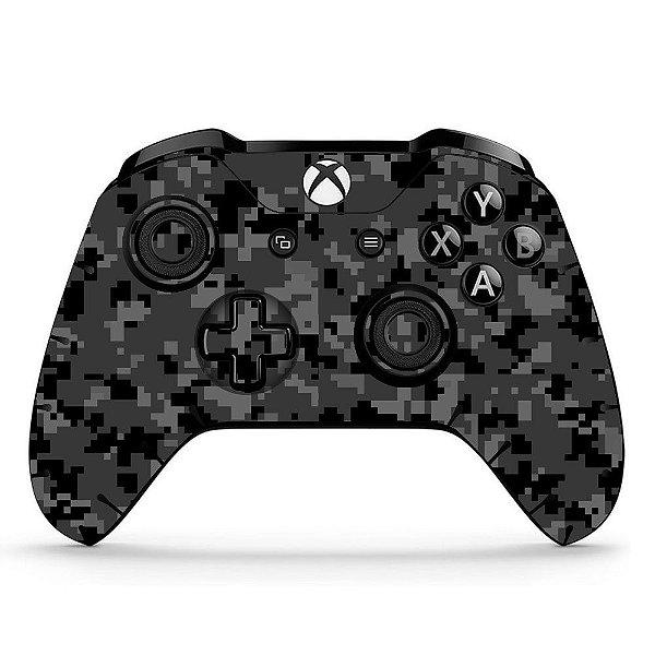 Sticker de Controle Xbox One Camuflado Cinza Mod 01