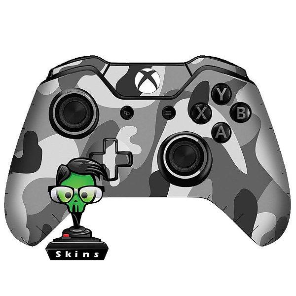 Sticker de Controle Xbox One Camuflado Cinza Mod 03