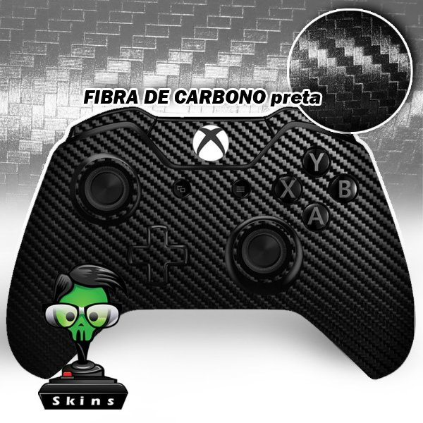 Sticker de Controle Xbox One Fibra de Carbono Black Mod 01