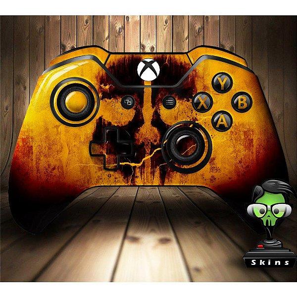 Sticker de Controle Xbox One Cod Ghosts Skull Orange