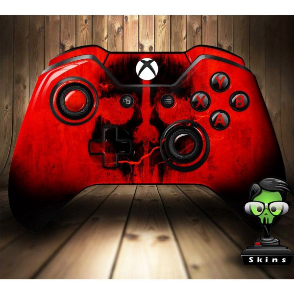 Sticker de Controle Xbox One Cod Ghosts Skull Red