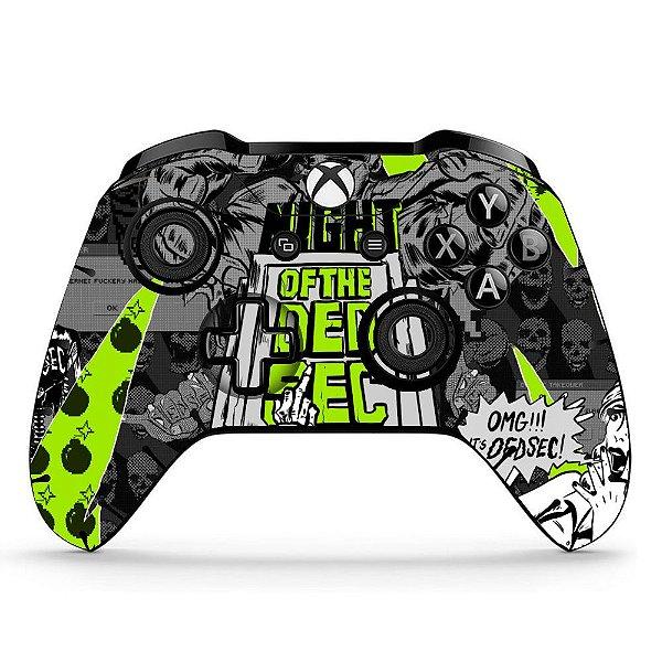 Sticker de Controle Xbox One Night Of The DedSec Mod 01
