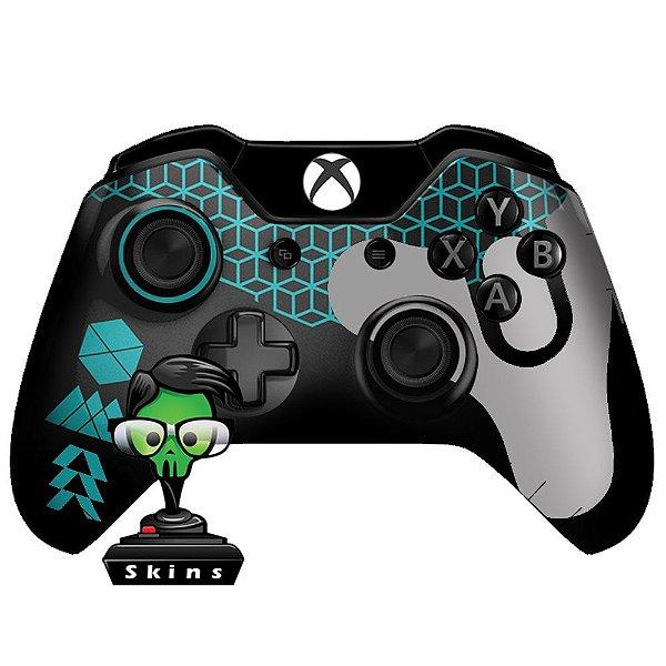 Sticker de Controle Xbox One Destiny Texture Ciano