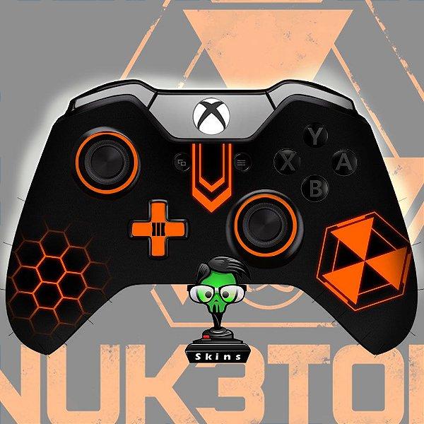 Sticker de Controle Xbox One Cod Black Ops Nuke Orange