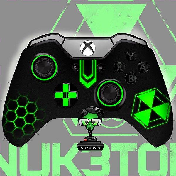 Sticker de Controle Xbox One Cod Black Ops Nuke Green