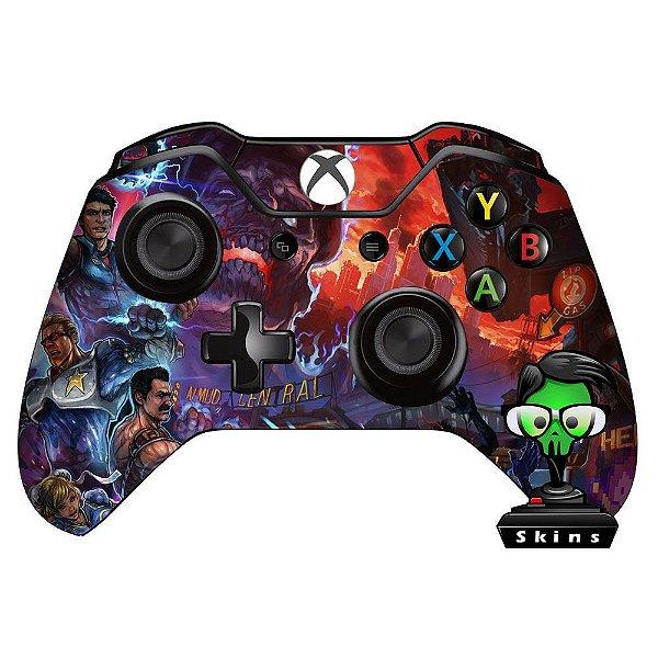 Sticker de Controle Xbox One Cod Black Ops Nuke Blue