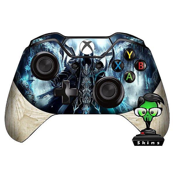 Sticker de Controle Xbox One Diablo Reaper Souls Branco